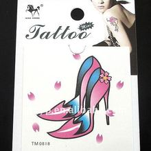 Hot selling! 2011 non-toxic water Transfer Lady's high-heeled shoes tattoo sticker