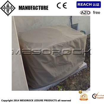 Outdoor air conditioner cover central exterior ground a c rectangular cover buy air for Central air conditioner covers exterior