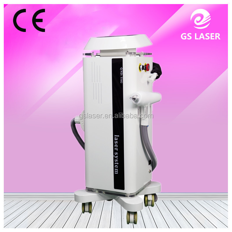 1064nm/532nm Q-Switched Nd-yag Laser/laser tattoo removal handle For Removaling Coffee Spot