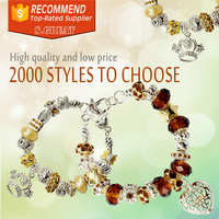 murano glass beads mixed gold bracelet fit pandora sale bijoux bracelet