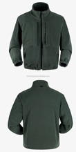 2016 Olive Green Military Fleece Jacket with chest pocket