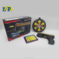 plastic shooting toy pistol simulate soft butllet gun with infrared for child