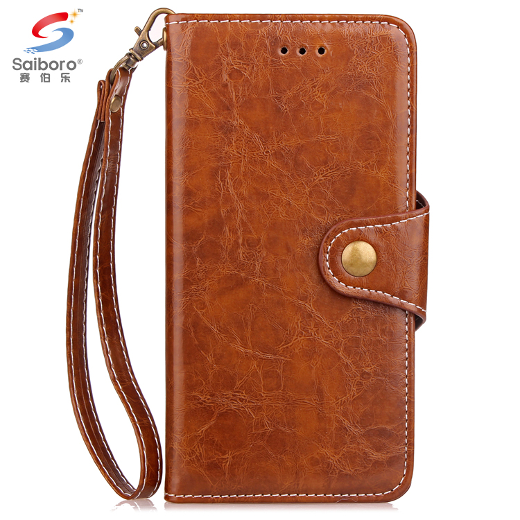 Hot sell pu leather flip cover case for iphone 5 6 6plus 7 7plus