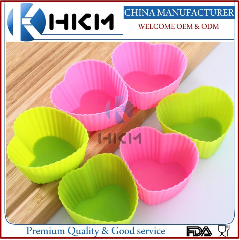 high quality silicone MINI muffin / cup cake / baking cases - various colours