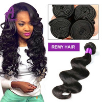 Alibaba Express Double Ends Unprocessed Body Wave Virgin Brazilian Human Hair,9A Body Wave Double Weft Virgin Brazilian Human Ha