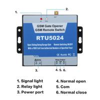 2G 3G GSM Gate Opener Relay Switch Phone Wireless Remote Controller Door Access Wireless Opener By Free Call RTU5024/RTU5035