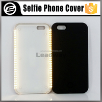 Original quality Luxury phone cover selfie LED light up mobile phone cover for iphone 6 protective selfie led light case