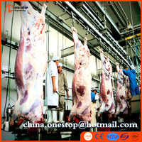 Slaughtering House Living Sheep Pig Cattle Equipment Line of Abattoir Automatic Splitting Machine
