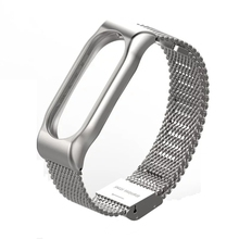 Original Mijobs Metal Strap Screwless Buckle Style Stainless Steel Bracelet Wristbands Replace for Xiaomi Mi Band 2