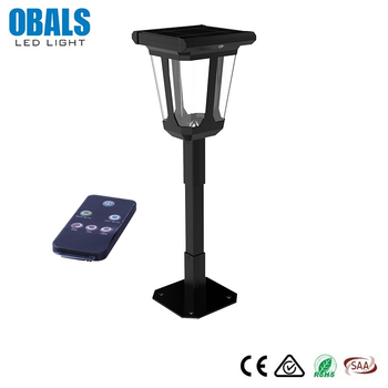 Saa Intelligent Sensing Portable Ip67 Lawn Post Lamp All In One Solar Led Street Light