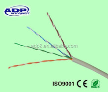 HOT! 305m high quality high speed Cu/CCA 0.5mm cat5e utp solid 4p 24awg lan cable