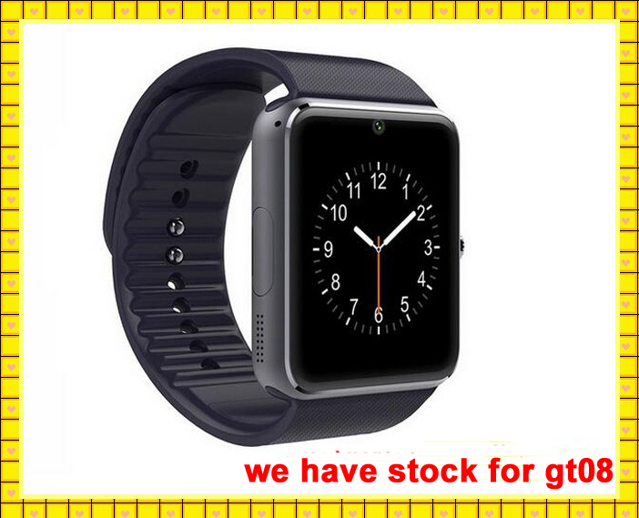factory price smart watch gt08 with sim card vs dz09 smart watch