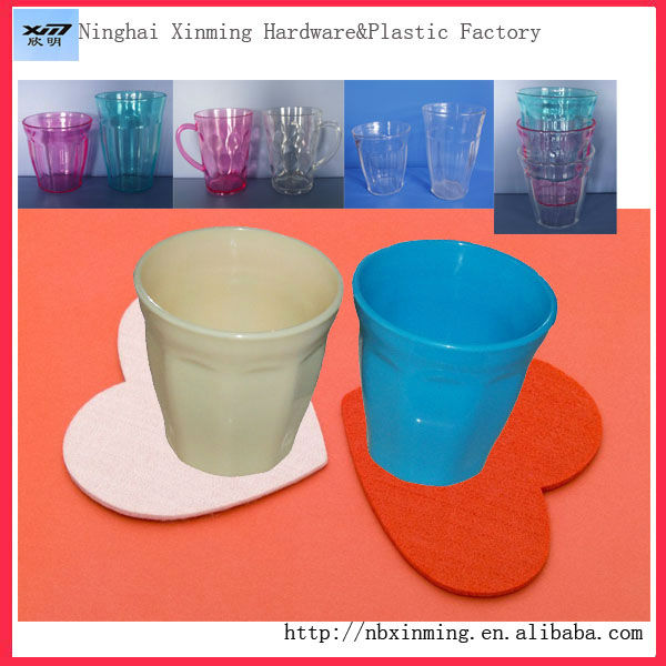 Small plastic children cup with handle