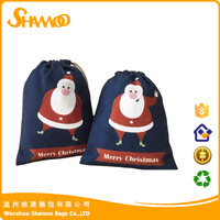 promotional drawstring bag and cheap christmas gift bag