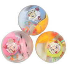Funny cool Children's toys Led crystal Elastic ball Flash Bouncing ball with cute small fish