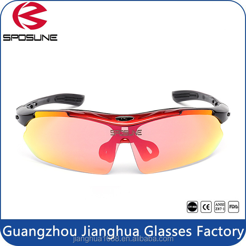 2017 Outdoor sport sunglasses men polarized high quality cycling glasses