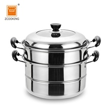 3Layer Stainless Steel Steamer Pot 26cm For Home Kitchen With 1 Tray