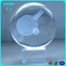 Hot Sale 3D Laser Engraved Tennis Ball Crystal For Company Table Decoration