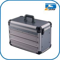 Hot selling wholesale cheap custom aluminum double sided aluminum gun case