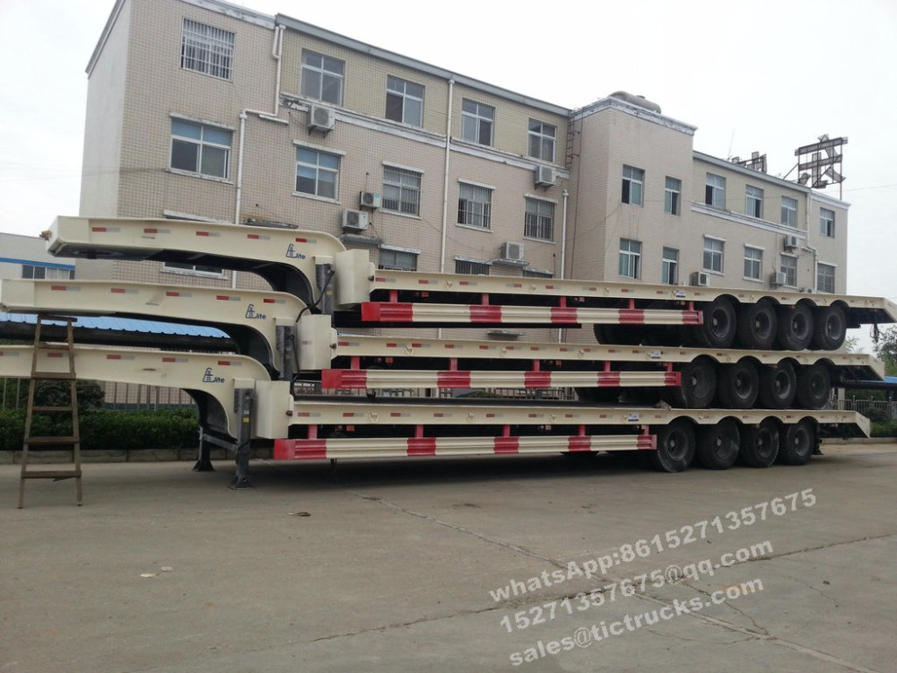 4 axles lowbed Stepframe Low Loaders 65- 85ton cell 8615271357675