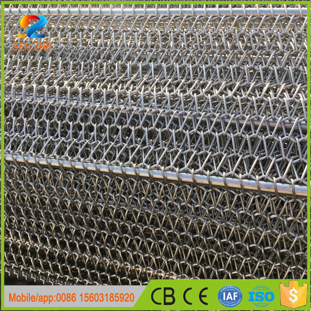 high or low temperature impact resistance china online selling wire mesh conveyor belt for furnace conveyor