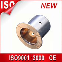 Customized bronze bushing,slide copper bush , flanged brass bimetal bushing