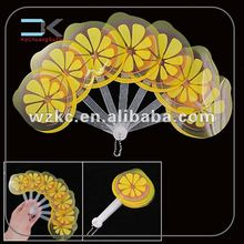 Lemon Color round Folding Fan,fruit shape folding fan