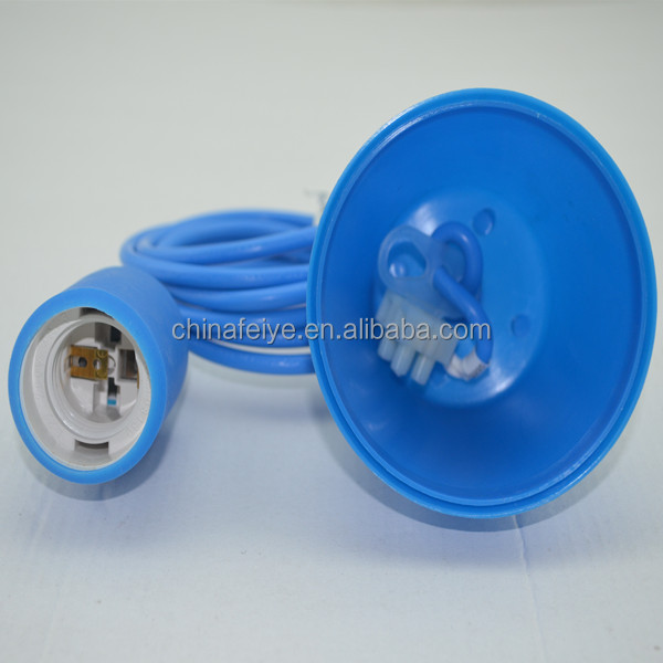 Blue/silicon ceiling rose/silicon holder/antique Edison big bulb light/energy saving bulb