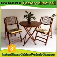 modern restaurant dining furniture bamboo table and folding chair set price