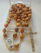 wooden rosary/hand made carved olive wood rosary beads