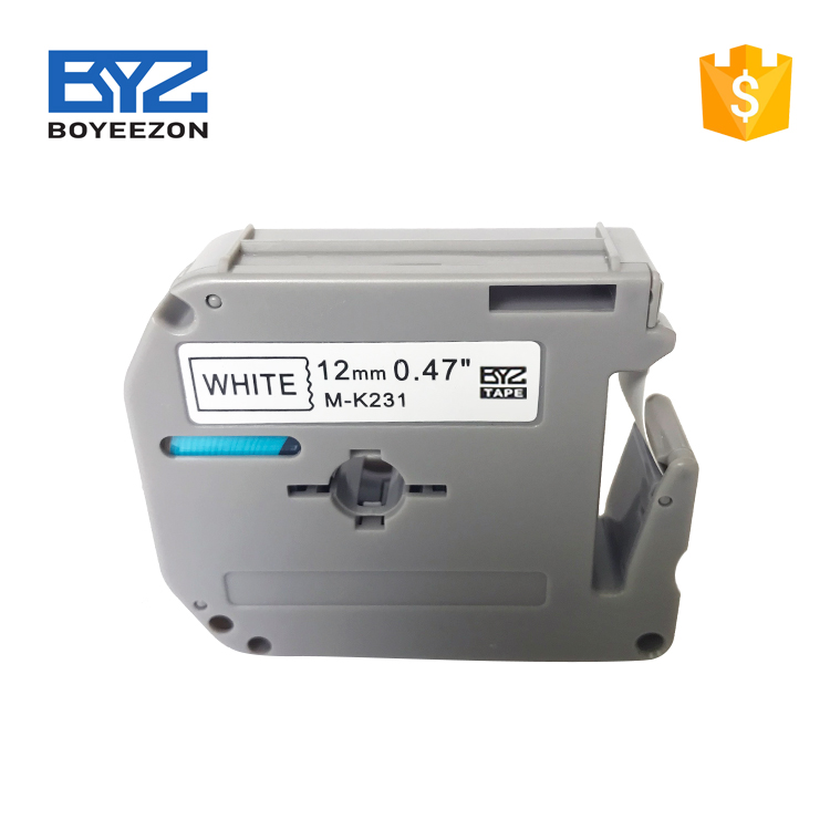 2018 high quality Label Tape MK231 Compatible P-touch Thermal Printer ribbon cartridges
