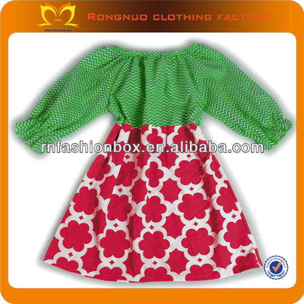 2013 Christmas Kids Costumes High Fashion Red Green Party Dresses For Girls