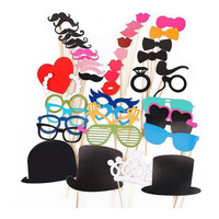 High Quality 44 New Photo Props Moustache Hat Small Eyes Paper Beard The Wedding Party Supplies Bachelorette Party Photo Booth