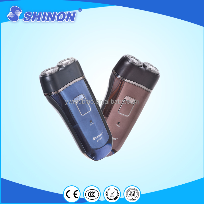 2 head electric mini shaver with sharp and durable shaving blade