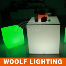 80cm led lighting plastic cube coffee table