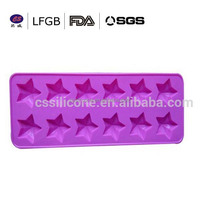 Hot selling Star shape silicone ice tray/silicone ice molds/cheap silicone ice cube tray