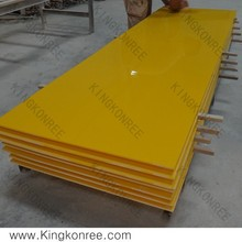 KKR hotel decorative acrylic wall panels/translucent sheets ,yellow artificial stone sheet