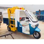 Electric sanitation tricycles load and unload garbage cans /Electric tricycle/Electric cleaning tricycle