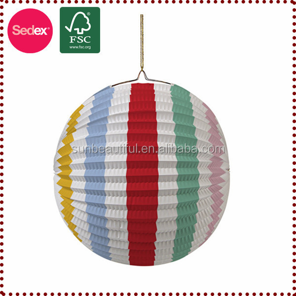 decorative round paper lantern for party