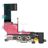 Black White Headphone Audio Charger Charging Data USB Dock Port Flex Cable for iphone 5s