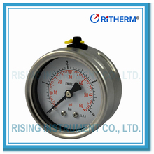 2.5 inch All stainless steel manometer oil filled air pressure gauge