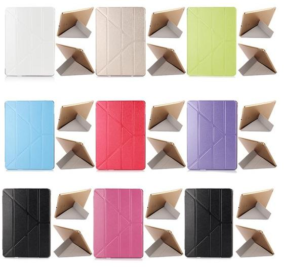 Transformer Silk Texture Tri-Fold Leather Stand Smart Case for iPad 2/3/4