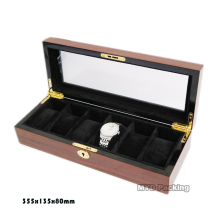 Seeing through acrylic window watch display box