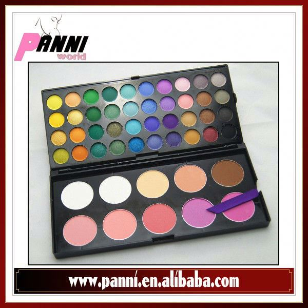 Manly 50 Color Makeup Cosmetic 40 Eyeshadow 5 Blush 5 Contour Palette M2105B-50