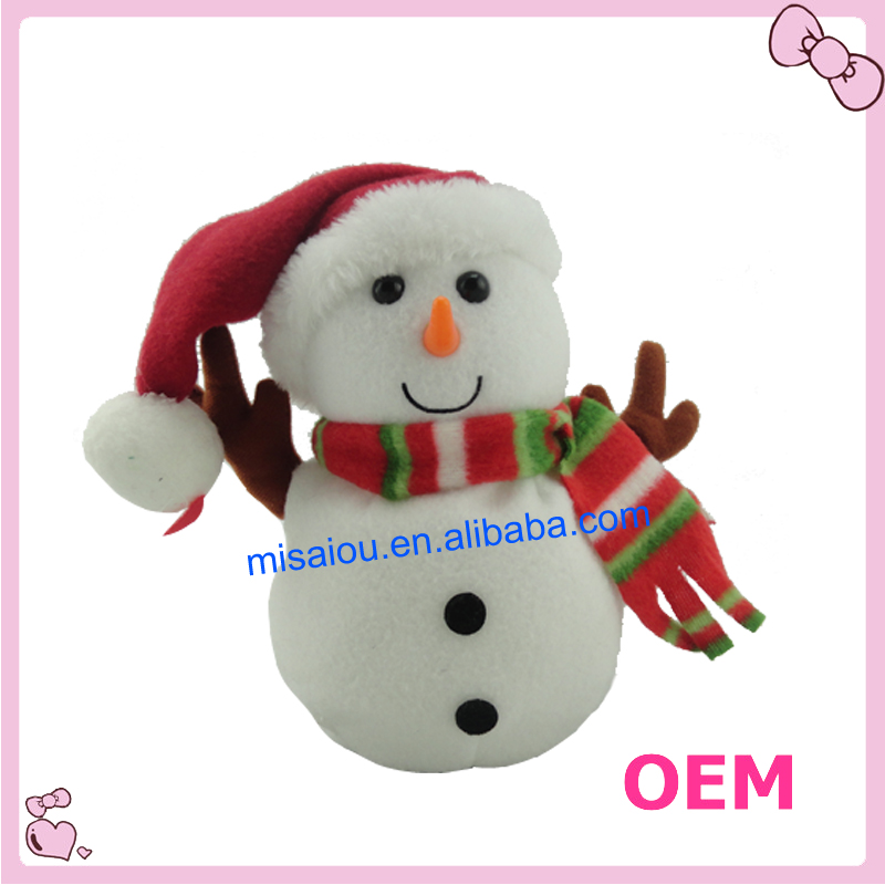Cute Snowman Toy For Christmas Plush Snowman Toy