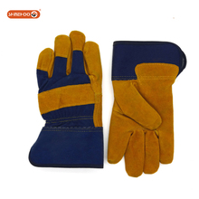 SHINEHOO Cheap Split Leather Working Welding Gloves