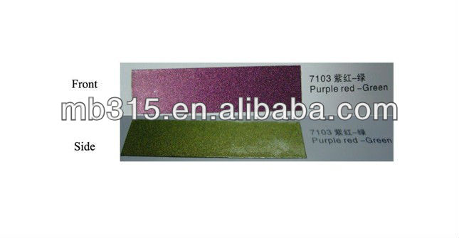 Optical variable ink for purple red-green