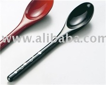 Lacquer ware Wooden Spoon Fork Set Go Best With Japanese Food