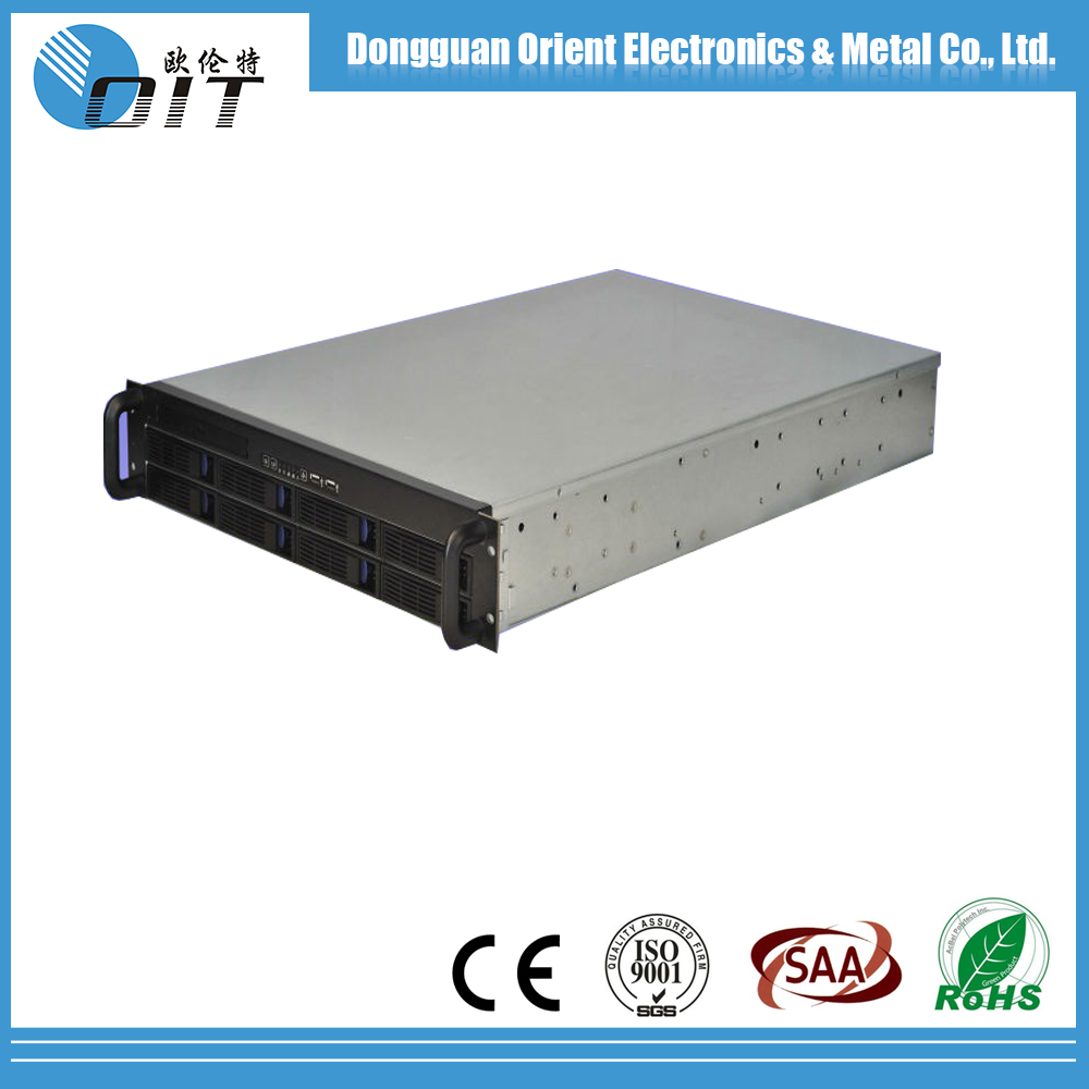 OEM sheet metal case fabrication 2U ATX rack mount Server nas Case /server chassis With 2 Backpanel