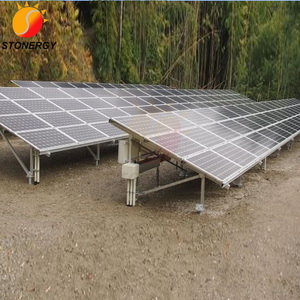 Aluminum Pv Solar Panel Ground Mount Racking System With Ground Screw Base